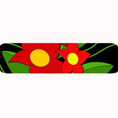 Red Flowers Large Bar Mats by Valentinaart