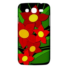 Red Flowers Samsung Galaxy Mega 5 8 I9152 Hardshell Case  by Valentinaart