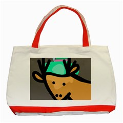 Deer Classic Tote Bag (red) by Valentinaart