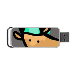 Deer Portable Usb Flash (two Sides) by Valentinaart