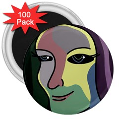 Lady 3  Magnets (100 Pack) by Valentinaart