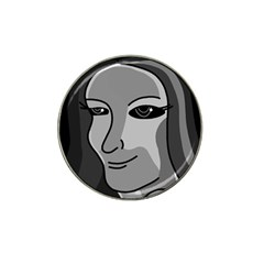 Lady   Gray Hat Clip Ball Marker (10 Pack) by Valentinaart