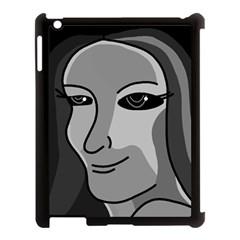 Lady   Gray Apple Ipad 3/4 Case (black) by Valentinaart