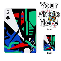 Find Me Playing Cards 54 Designs  by Valentinaart