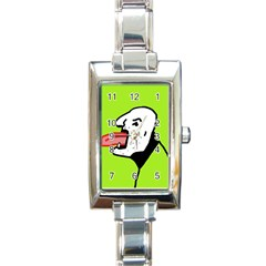 Protrusion  Rectangle Italian Charm Watch by Valentinaart