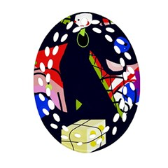 Gift Oval Filigree Ornament (2 Side)  by Valentinaart