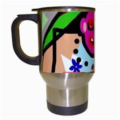 Quarreling Travel Mugs (white) by Valentinaart