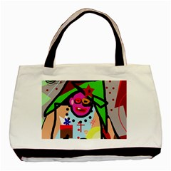 Quarreling Basic Tote Bag (Two Sides)
