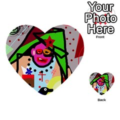 Quarreling Multi Purpose Cards (heart)  by Valentinaart