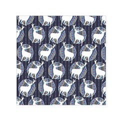 Geometric Deer Retro Pattern Small Satin Scarf (square) by DanaeStudio
