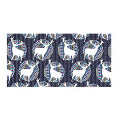 Geometric Deer Retro Pattern Satin Wrap