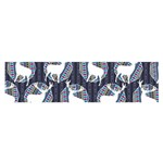 Geometric Deer Retro Pattern Satin Scarf (Oblong)