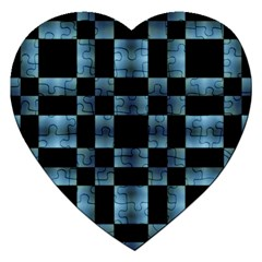 Checkboard Pattern Print Jigsaw Puzzle (heart) by dflcprints