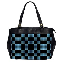 Checkboard Pattern Print Office Handbags (2 Sides)  by dflcprints
