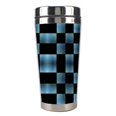 Checkboard Pattern Print Stainless Steel Travel Tumblers by dflcprints