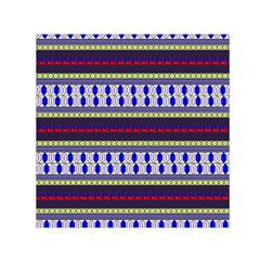 Colorful Retro Geometric Pattern Small Satin Scarf (square) by DanaeStudio