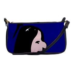 Girl And Bird Shoulder Clutch Bags by Valentinaart