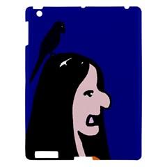 Girl And Bird Apple Ipad 3/4 Hardshell Case by Valentinaart