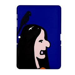 Girl And Bird Samsung Galaxy Tab 2 (10 1 ) P5100 Hardshell Case  by Valentinaart