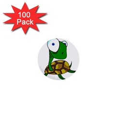 Turtle 1  Mini Buttons (100 Pack)  by Valentinaart