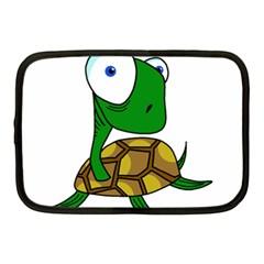 Turtle Netbook Case (medium)  by Valentinaart