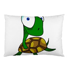 Turtle Pillow Case (two Sides) by Valentinaart