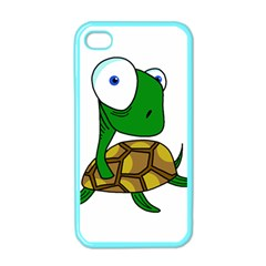 Turtle Apple Iphone 4 Case (color) by Valentinaart