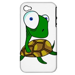 Turtle Apple Iphone 4/4s Hardshell Case (pc+silicone) by Valentinaart