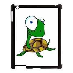 Turtle Apple Ipad 3/4 Case (black) by Valentinaart