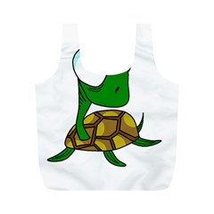 Turtle Full Print Recycle Bags (m)  by Valentinaart