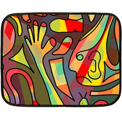 Colorful Dream Double Sided Fleece Blanket (mini)  by Valentinaart