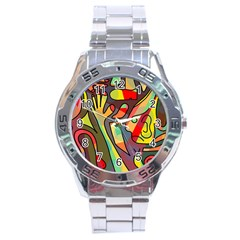 Colorful Dream Stainless Steel Analogue Watch by Valentinaart