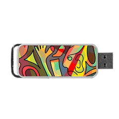 Colorful Dream Portable Usb Flash (two Sides) by Valentinaart
