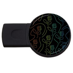 Floral pattern USB Flash Drive Round (1 GB)