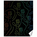 Floral pattern Canvas 16  x 20   20 x16 Canvas - 1