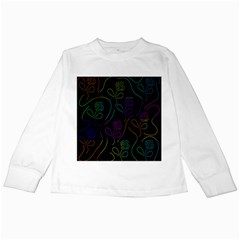 Flowers   Pattern Kids Long Sleeve T Shirts by Valentinaart