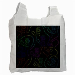 Flowers   Pattern Recycle Bag (two Side)  by Valentinaart