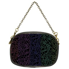 Colorful Elegant Pattern Chain Purses (two Sides)  by Valentinaart