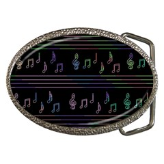 Music Pattern Belt Buckles by Valentinaart