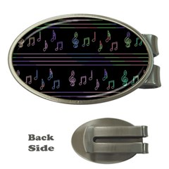Music Pattern Money Clips (oval)  by Valentinaart