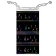 Music Pattern Jewelry Bags by Valentinaart