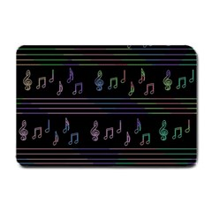Music Pattern Small Doormat  by Valentinaart