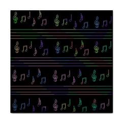 Music Pattern Face Towel by Valentinaart