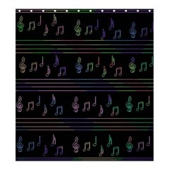 Music Pattern Shower Curtain 66  X 72  (large)  by Valentinaart