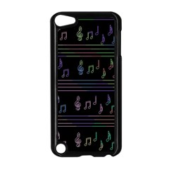 Music Pattern Apple Ipod Touch 5 Case (black) by Valentinaart