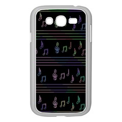 Music Pattern Samsung Galaxy Grand Duos I9082 Case (white) by Valentinaart
