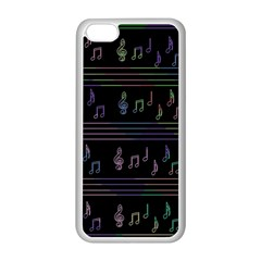 Music Pattern Apple Iphone 5c Seamless Case (white) by Valentinaart