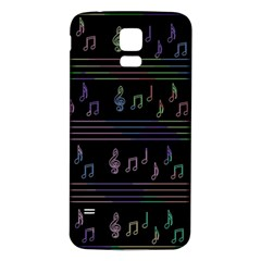 Music Pattern Samsung Galaxy S5 Back Case (white) by Valentinaart