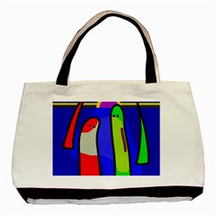 Colorful Snakes Basic Tote Bag by Valentinaart
