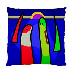 Colorful Snakes Standard Cushion Case (two Sides) by Valentinaart